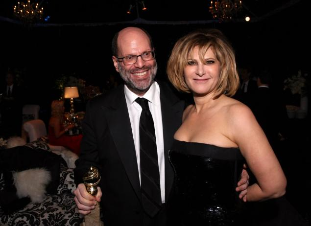 Producer Scott Rudin and Pascal attend a Golden Globes party on Jan. 16, 2011 in Beverly Hills, Calif.
