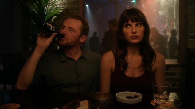 """Simon Pegg in his newest film, the British romantic comedy """"Man Up."""""""