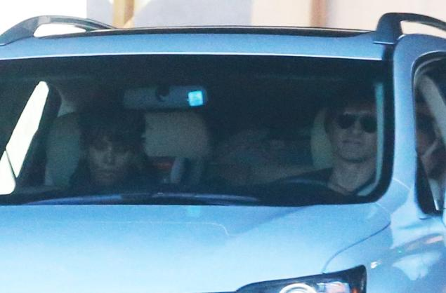 Halle Berry (left) and Olivier Martinez (right) are spotted driving together in California on Saturday, two weeks after filing for divorce.